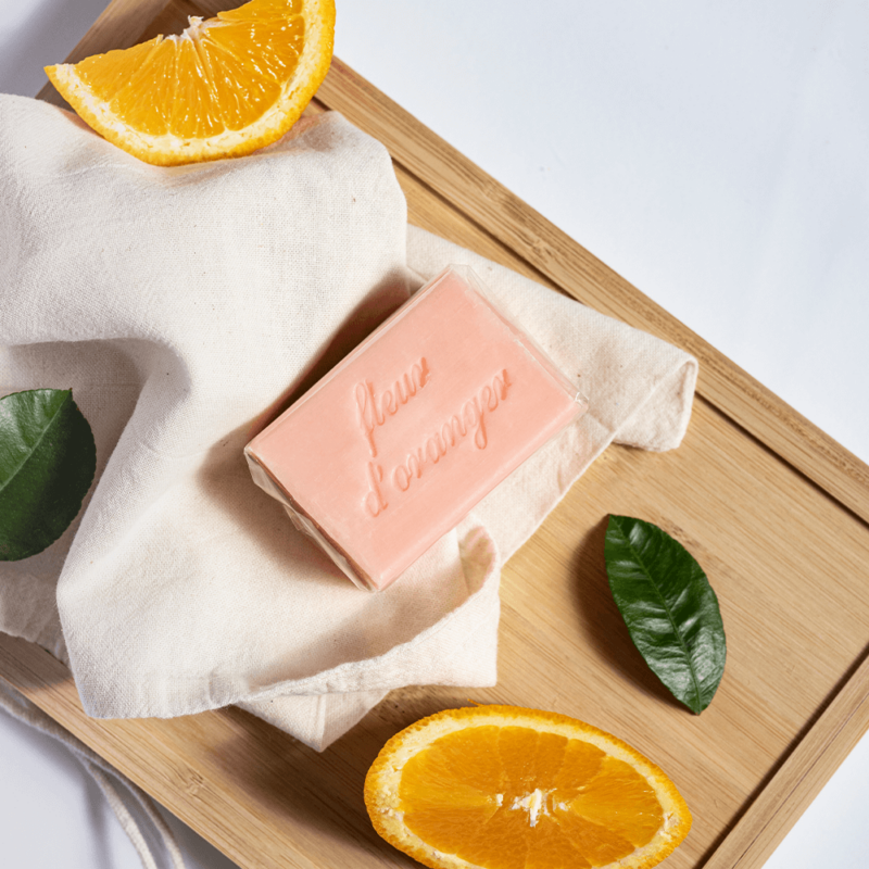 Casa Nature kézzel készült, 100% növényi, extra gyengéd szappan tiszta organikus shea vajjal, narancsvirág illattal - Fleur D'oranger